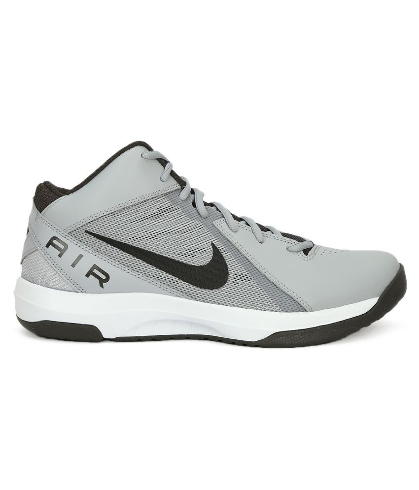 8e3bd367f12 Nike THE AIR OVERPLAY IX Gray Basketball Shoes - Buy Nike THE AIR ...