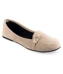 Vaniya Shoes Beige Ballerinas