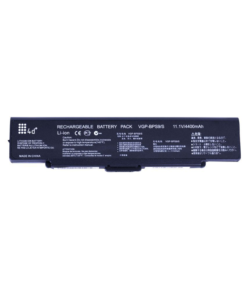 4d Impex Laptop battery Compatible For Sony VAIO-VGN-SZ780N6-6CLB