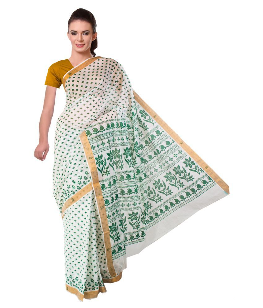 BrindavanSilks Multicoloured Kerela Cotton Saree