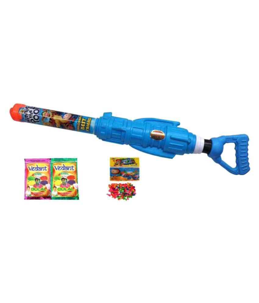 Darling Toys Rocket Launcher Holi Water Gun Pichkari Pipe With 2