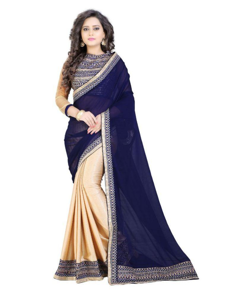 Ganga Shree Blue and Grey Mangalgiri Silk Saree