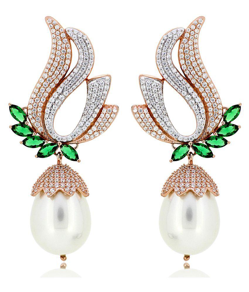 Joal 92.5 BIS Hallmarked Silver Cubic zirconia Drop Earrings