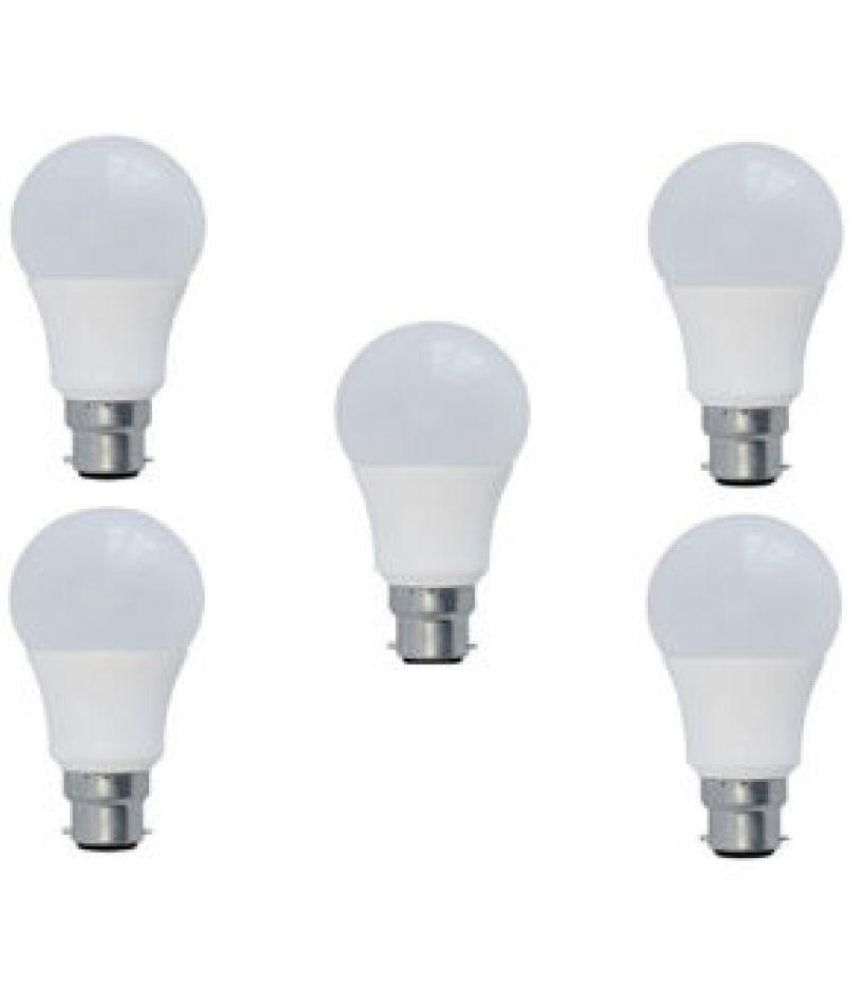 Syska 15W Pack of 5 Led Bulbs   Cool Day Light
