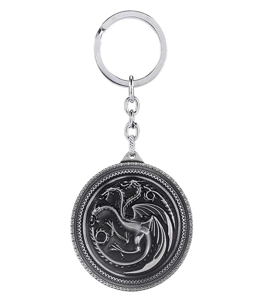 Padraig Game of Thrones Targaryen Three-headed Dragon Sigil Keychain