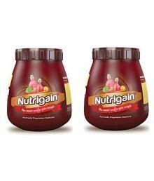 Ayurwin Nutrigain Powder 500 Gm Chocolate Weight Gainer Powder Pack Of 2