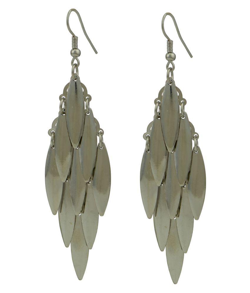 High Trendz Silver Hanging Earrings