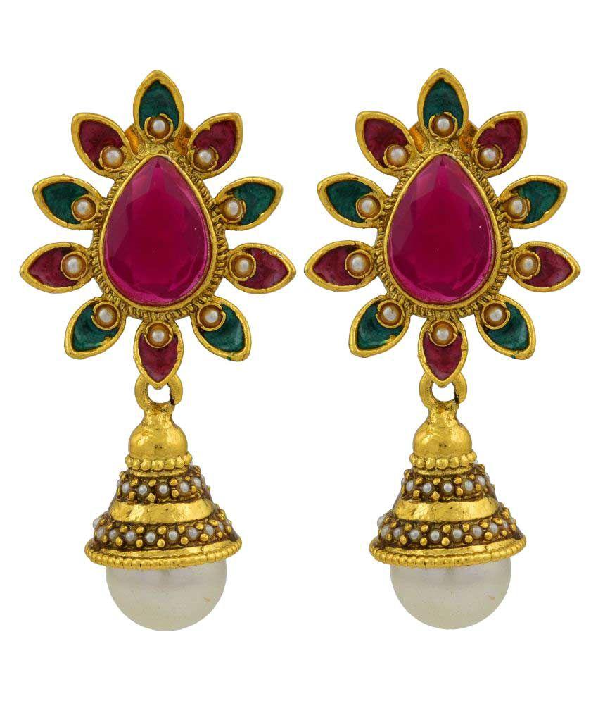 High Trendz Stylish Traditional Oxidise Earrings