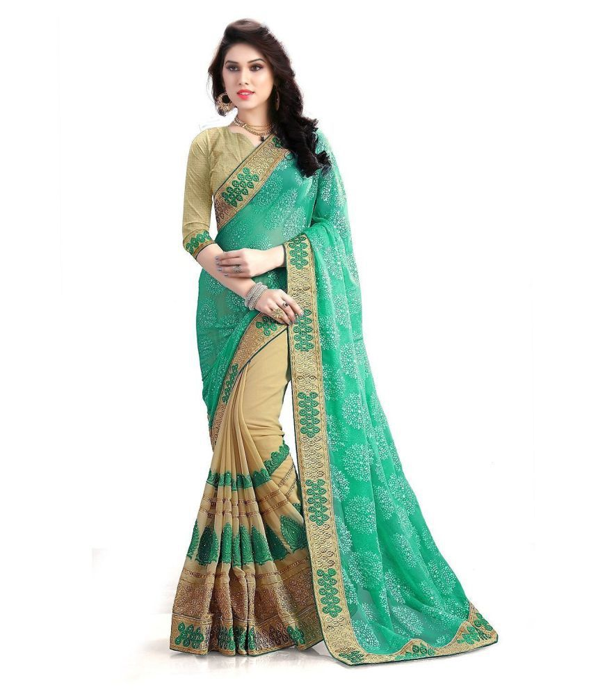 Bindani Studio Multicoloured Georgette Saree
