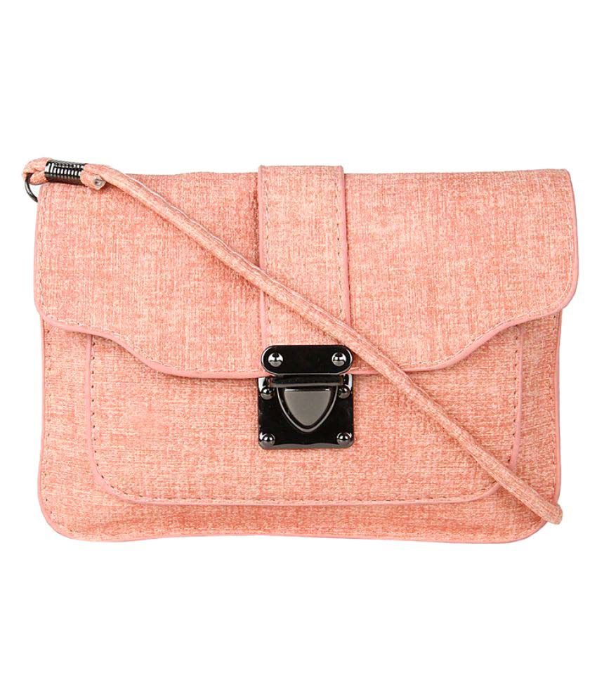 Moedbuille Pink P.U. Sling Bag