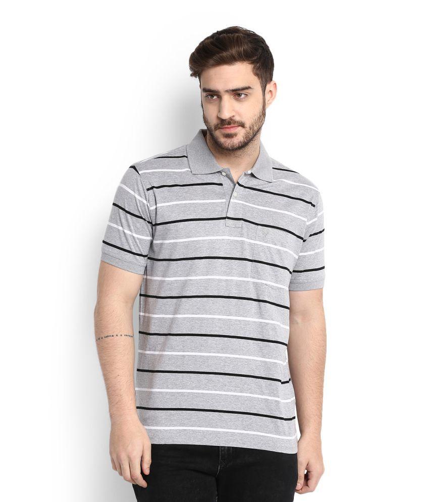 Allen Solly Grey High Neck T-Shirt