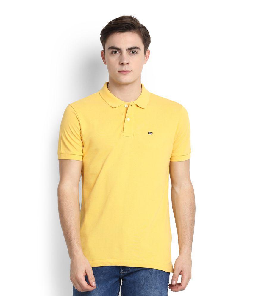 Arrow Sports Yellow High Neck T-Shirt
