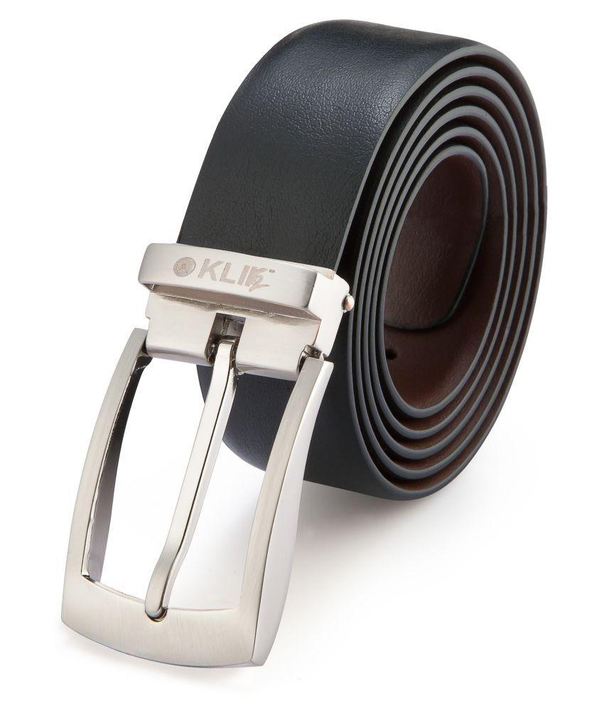 Klik2 Black Leather Formal Belts