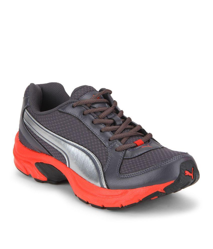 tout neuf ad5b5 20f7b Puma Descendant v3 IDP Gray Running Shoes