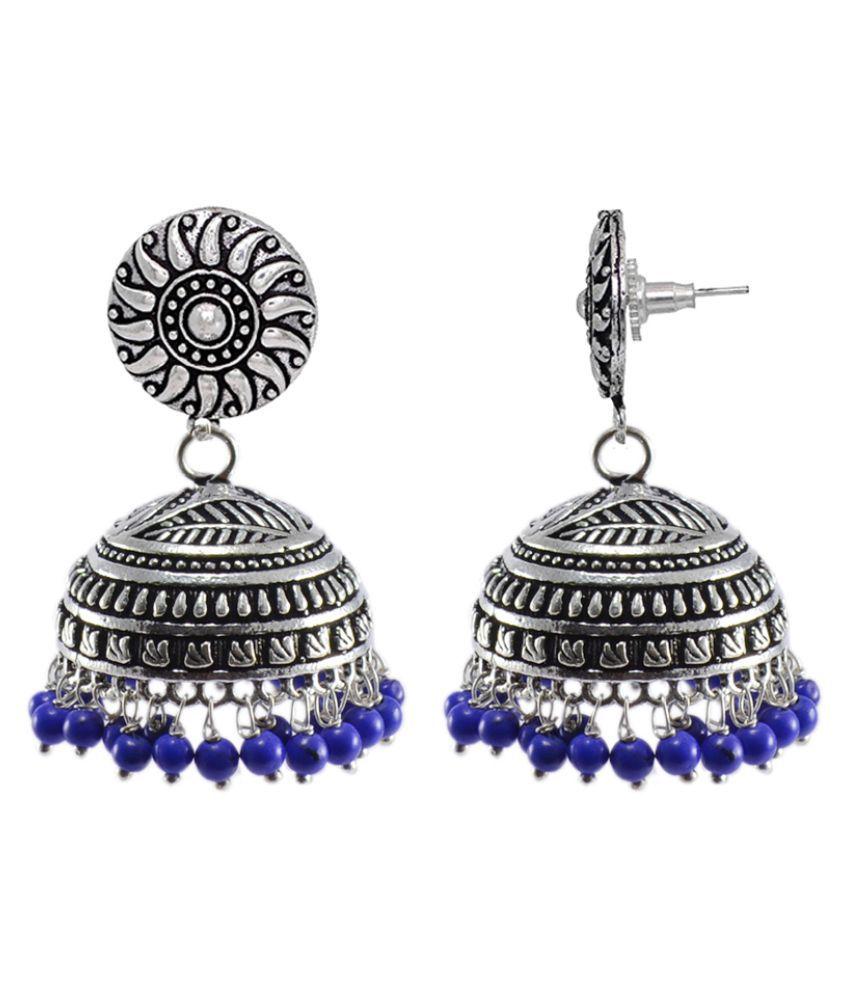 Silvesto India Jhumki Studs Indian Jewellery Big Tribal Earrings