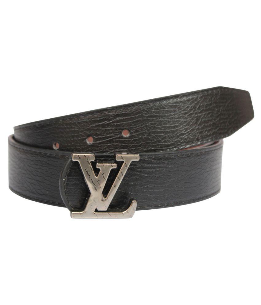 Unifashionat Black Faux Leather Casual Belts