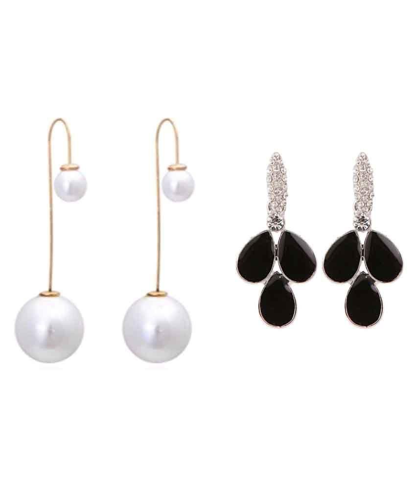 Efulgenz Combo of 2 Trendy Earrings