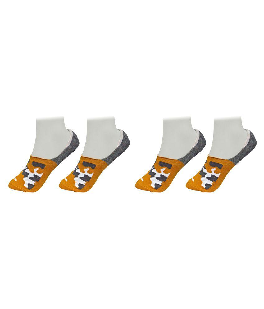 Gold Dust Multicolor Latest Fancy Low Cut Socks 2 Pair