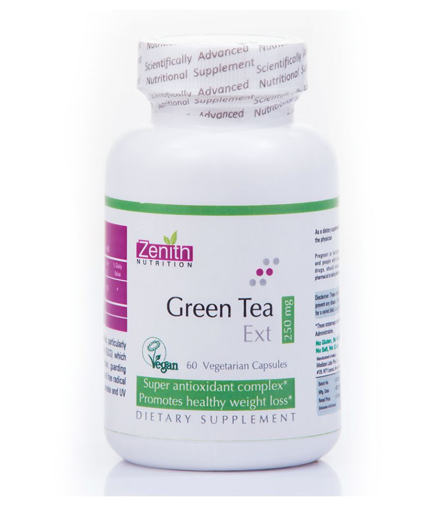 Zenith Nutritions Green Tea 250mg 60 no.s Unflavoured