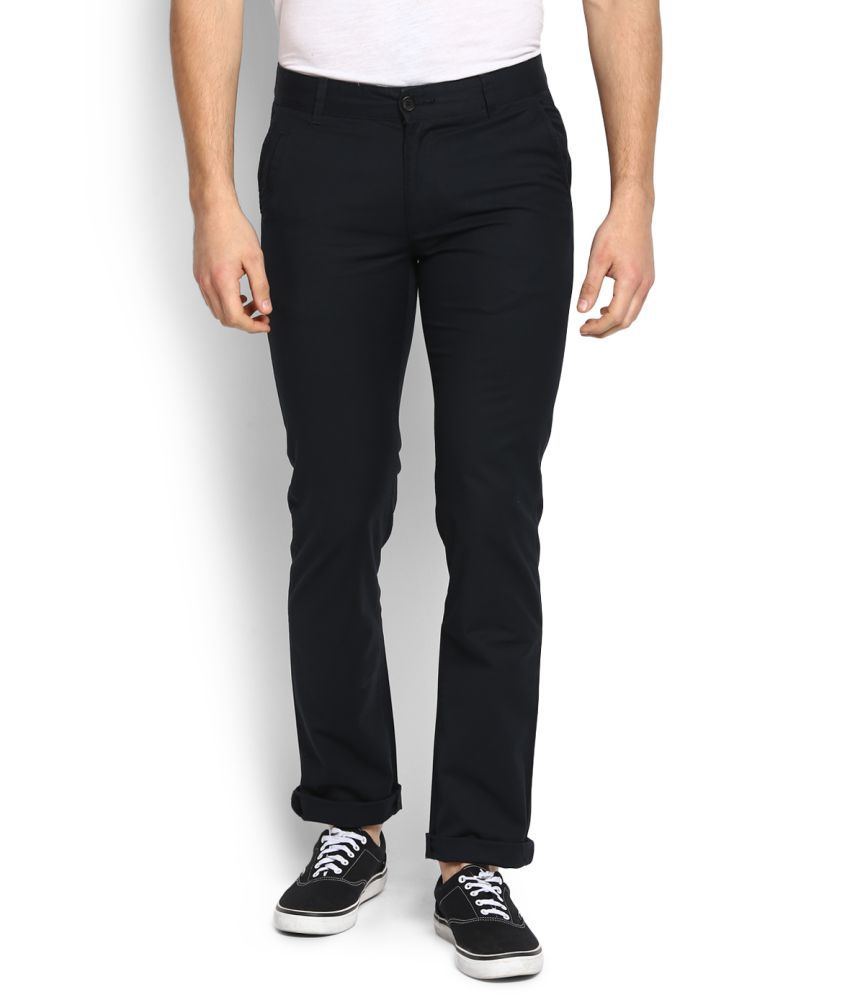 United Colors of Benetton Black Slim Flat Chinos