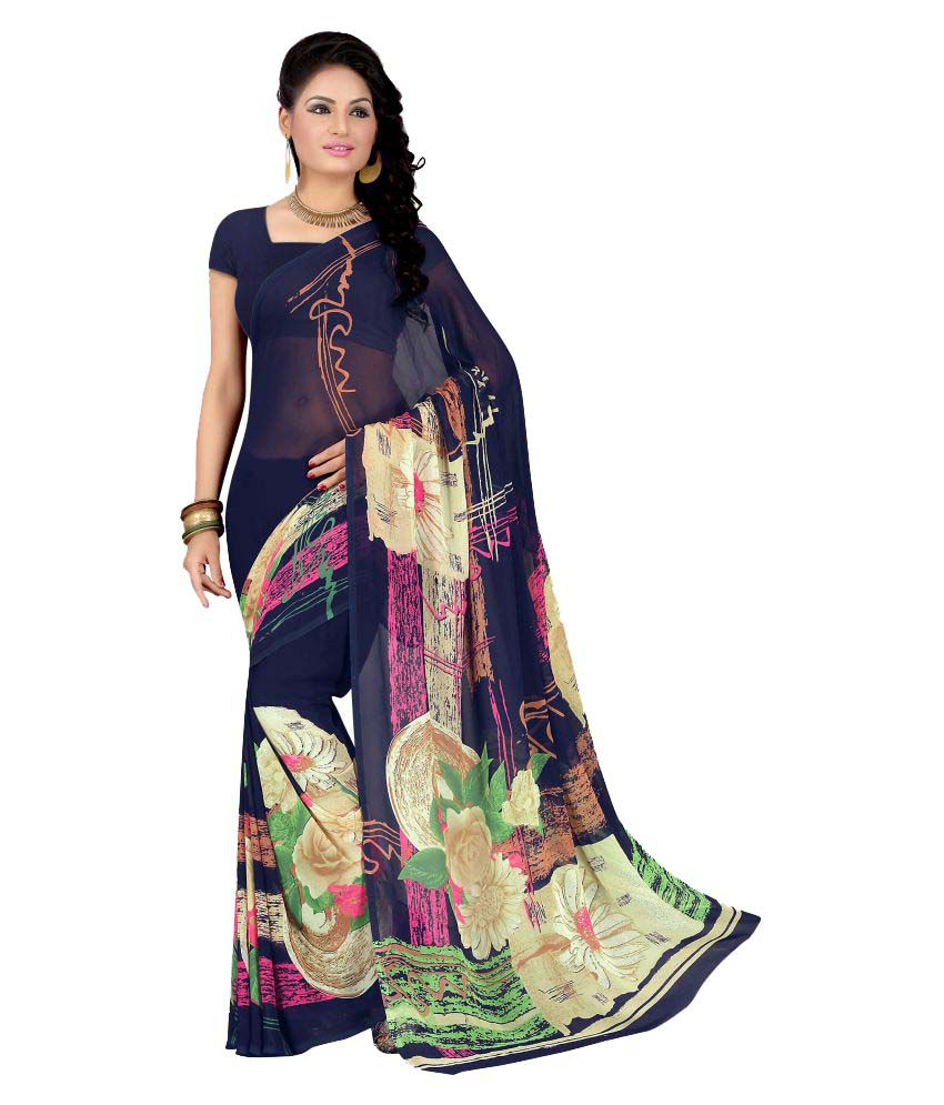 Livie Multicoloured Georgette Saree