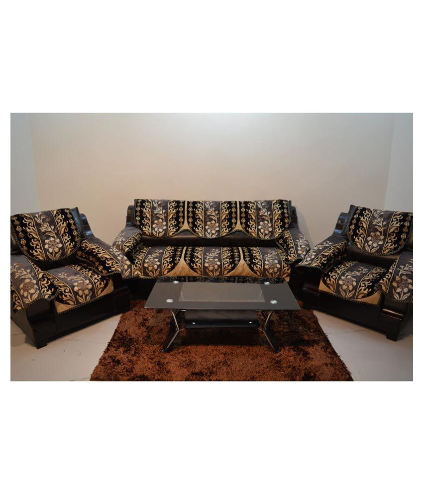 kingly 5 seater jacquard set of 12 sofa cover set buy kingly 5 rh snapdeal com