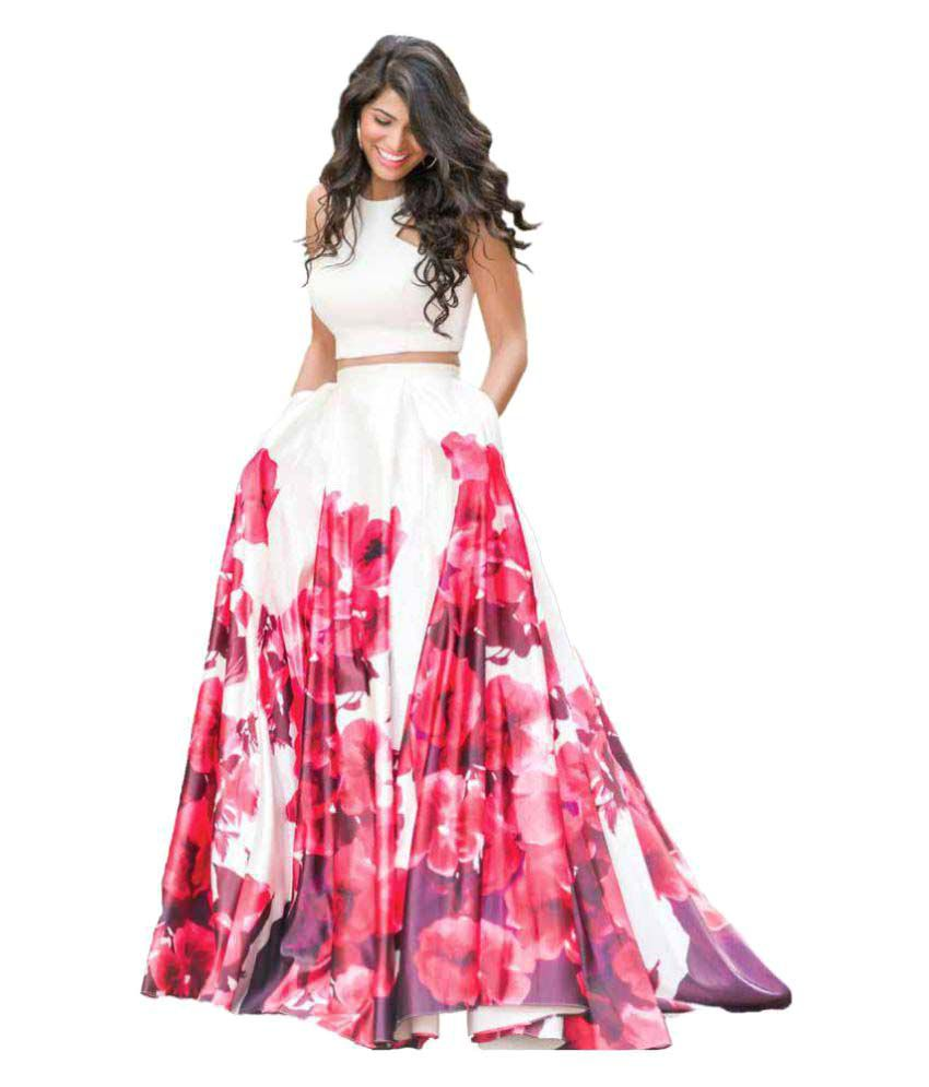 Miss Stylist Multicoloured Bangalore Silk Semi Stitched Lehenga