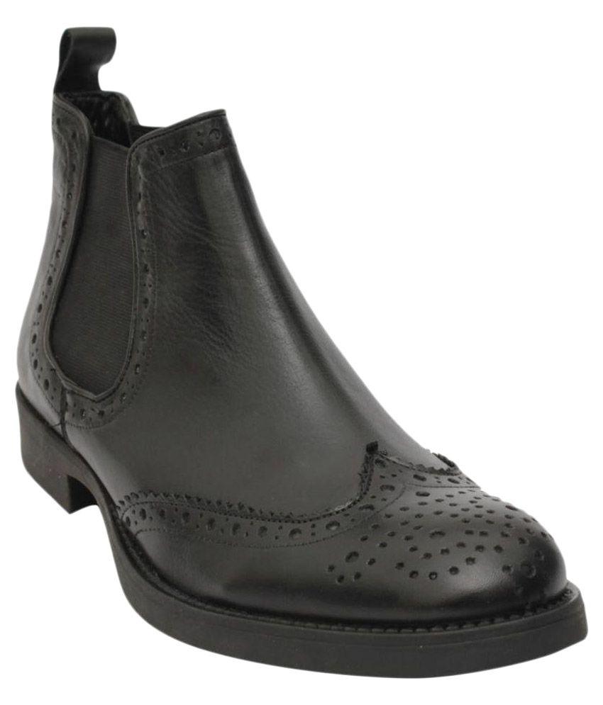 Salt N Pepper Black Chelsea boot