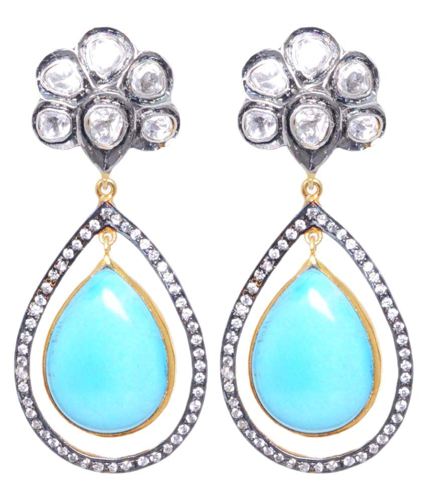 Gehna 92.5 Silver Turquoise Hangings
