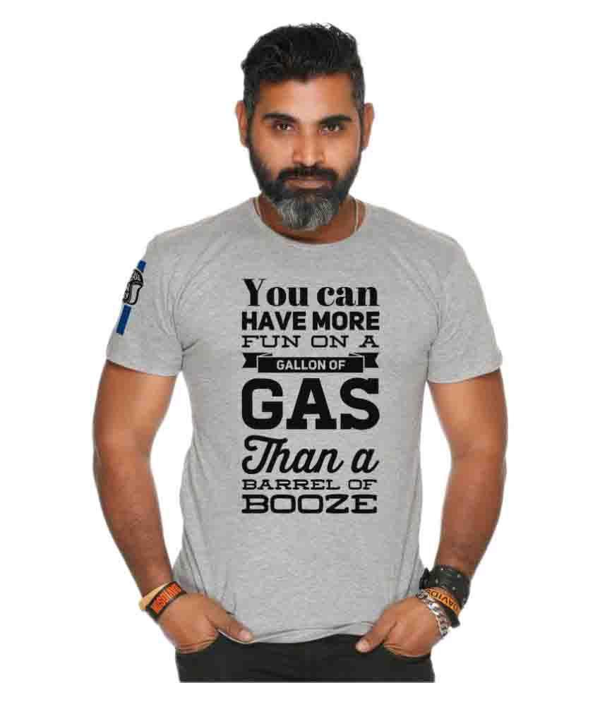 Grease Monkey Grey Round T-Shirt