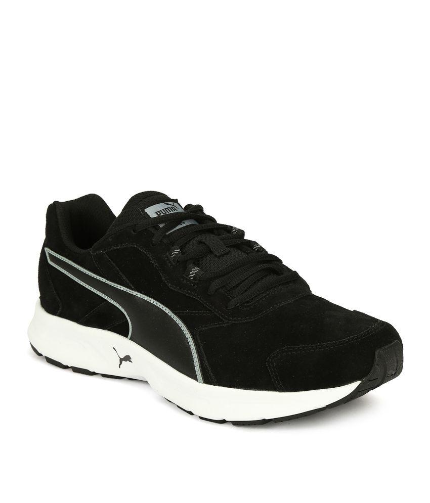 Puma Descendant V3 Black Running Shoes ...