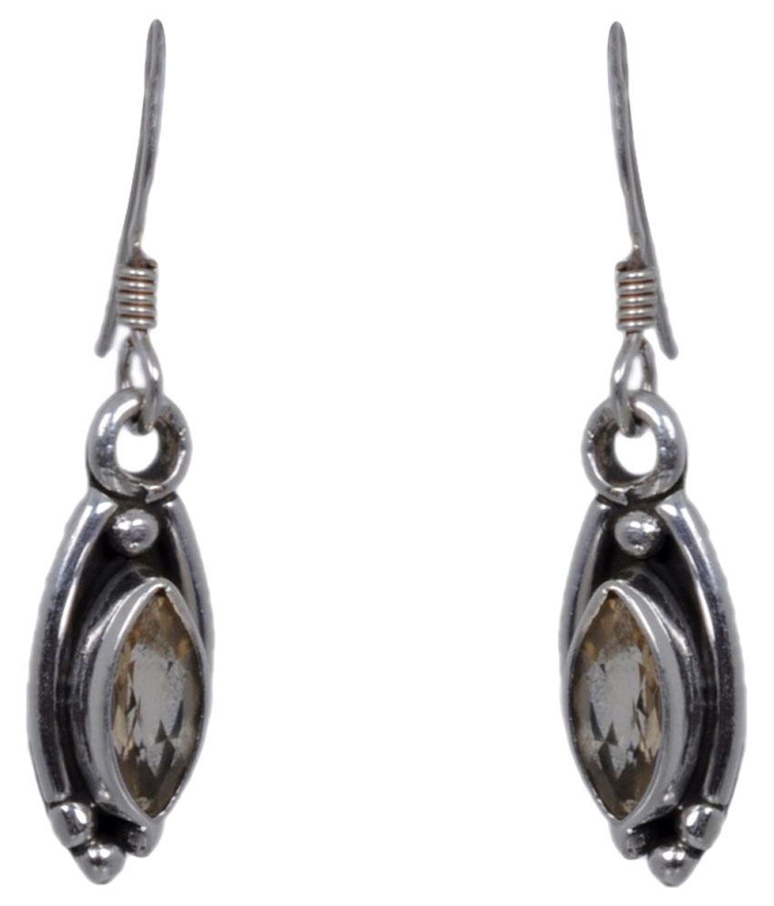 Gehna 92.5 Silver Topaz Hangings