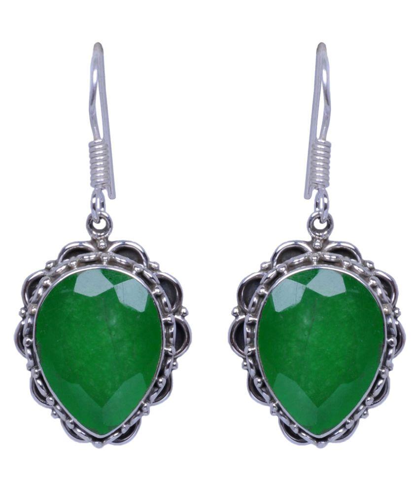 Gehna 92.5 Silver Jade Hangings