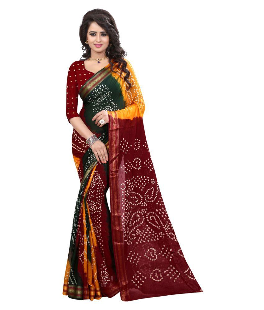 Heeram Fashion Multicoloured Cotton Saree