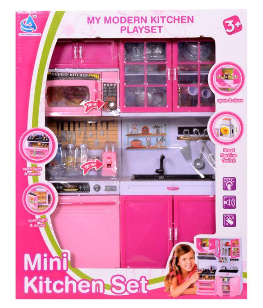 Montez Modern Mini Kitchen Play Set Pink Buy Montez Modern Mini