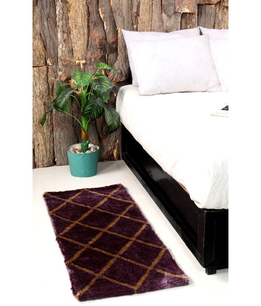 HomeFurry Purple Runner Single Polyester Checks