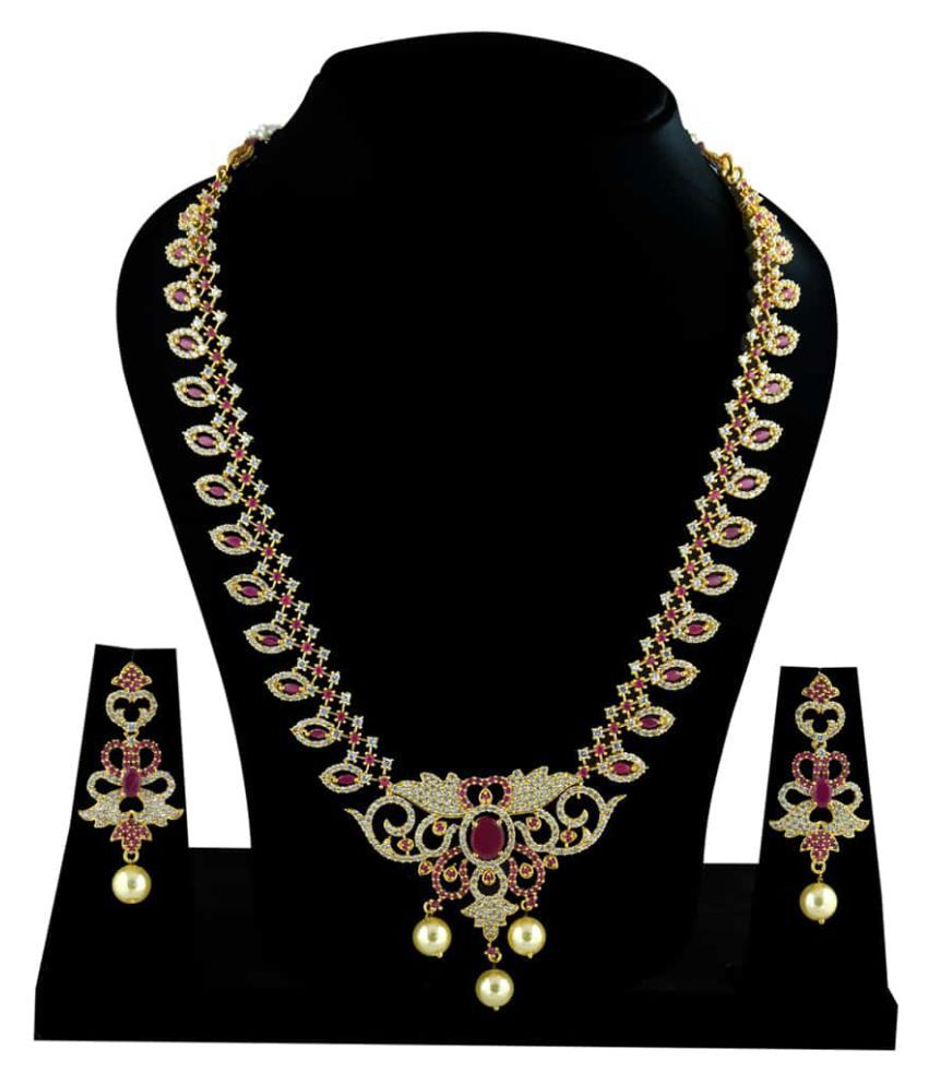 Kalyani Covering Multicolour Alloy Necklace Set