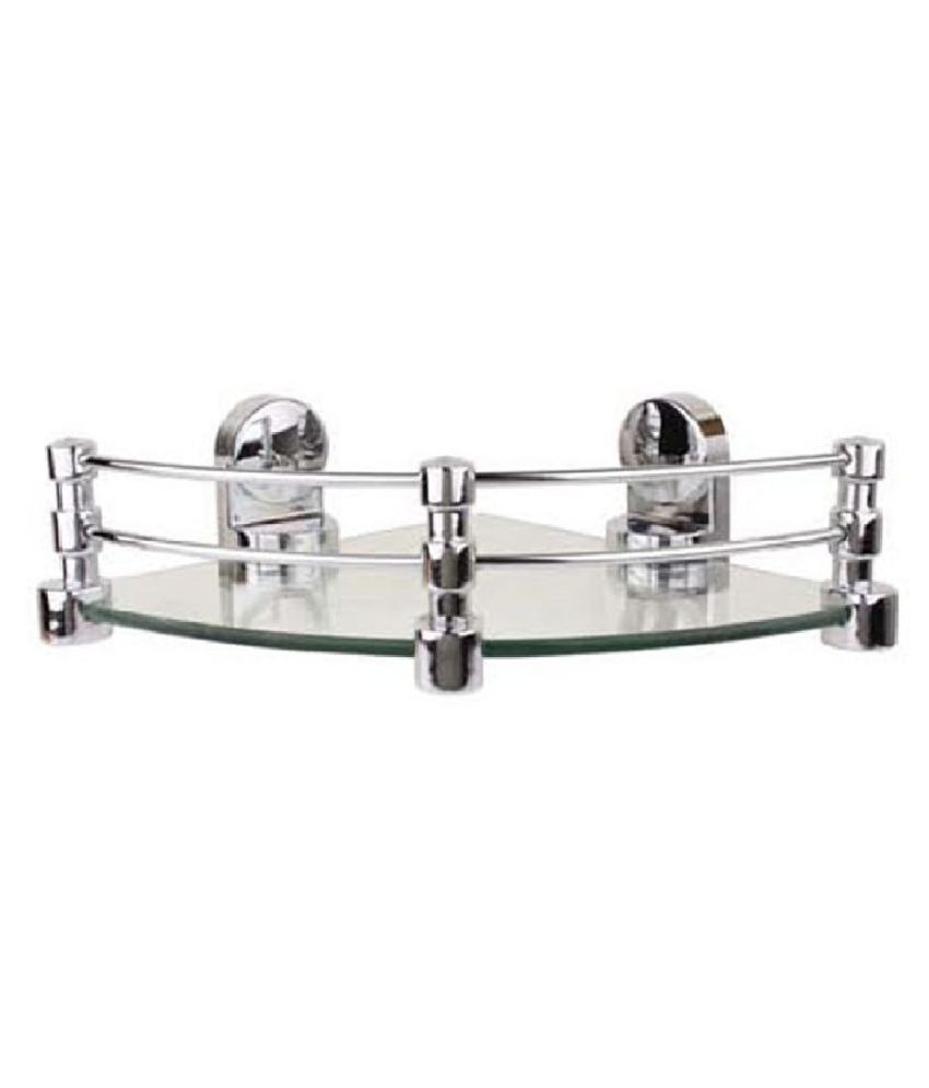 Royal Indian Craft Queen Bracket Elegant Look 10 by 10 inch Glass Corner Shelf