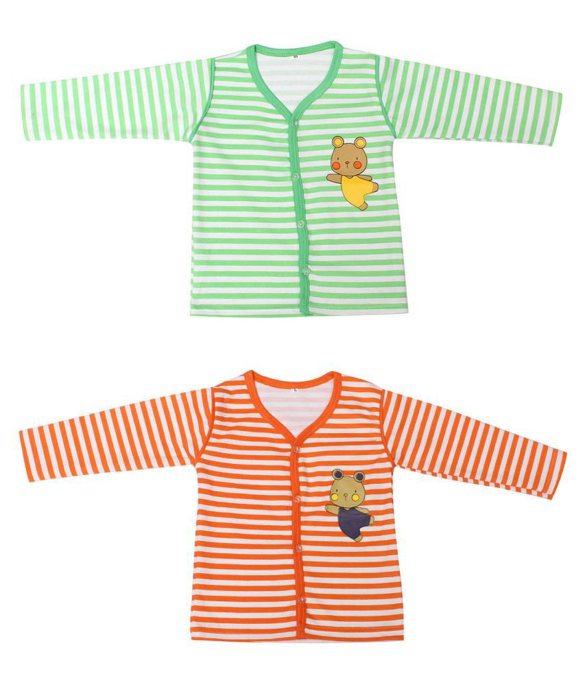 Babeezworld Multicolour Cotton Top - Pack of 2