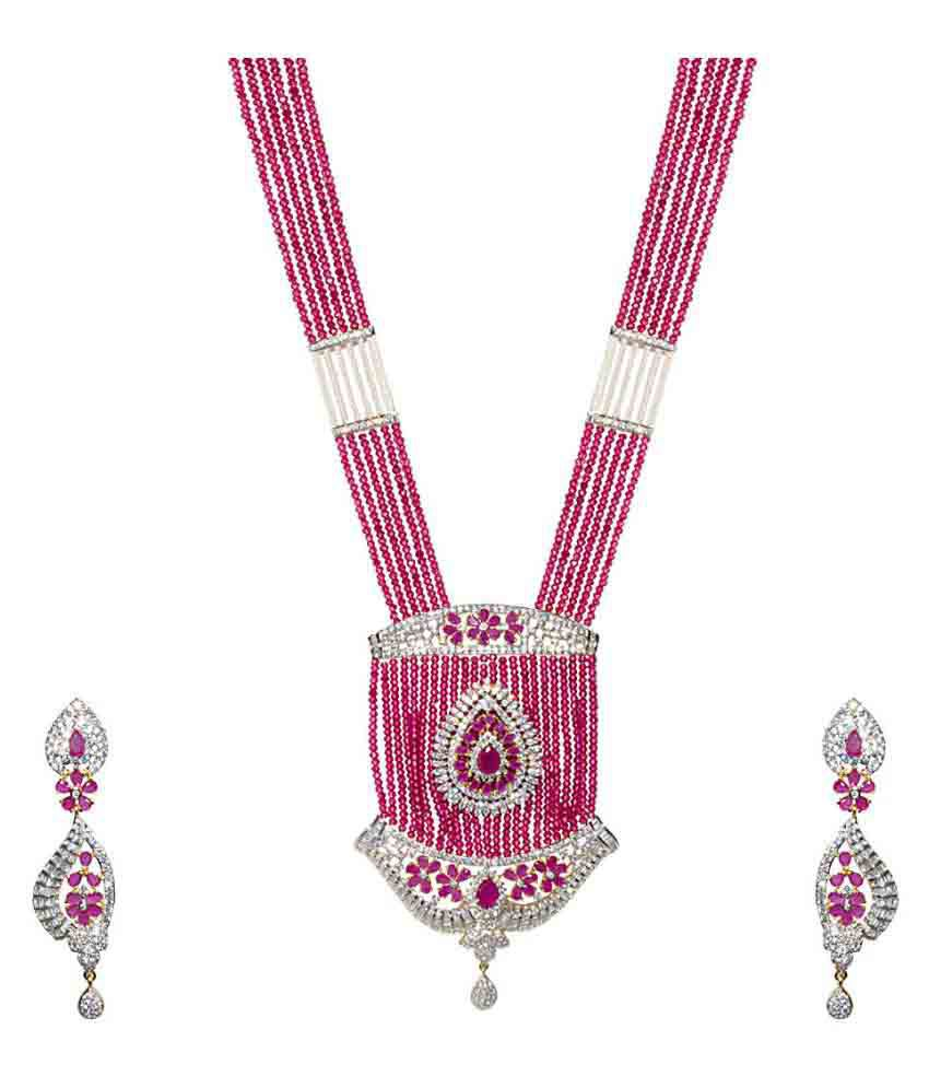 Jewellerkaka The Pink Princess Necklace Set