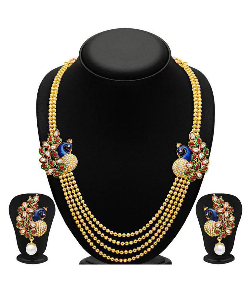 Penny Jewels Designer Necklace Set Party Wear For Women & Girls