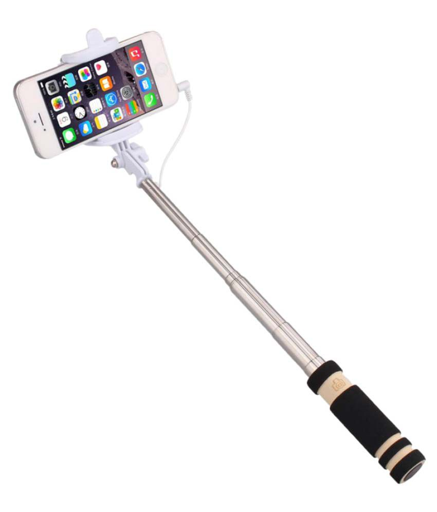 jiyanshi aux wire selfie stick black selfie sticks accessories online at low prices. Black Bedroom Furniture Sets. Home Design Ideas