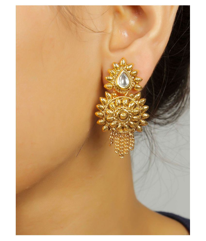 Buy Traditional Indian gold earrings designs pictures trends