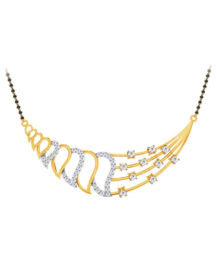 Jacknjewel 18k Yellow Gold Diamond Mangalsutra