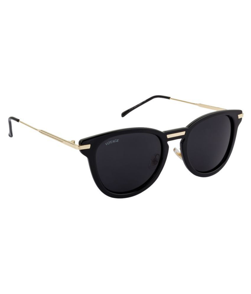 Voyage Black Round Sunglasses ( 6680MG1245 )