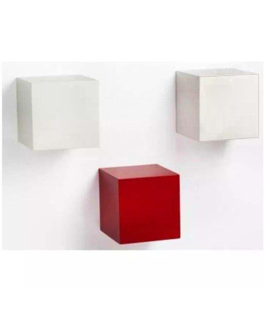 Onlineshoppee Floating Shelf/ Wall Shelf / Storage Shelf/ Decoration Shelf Multicolour Set of 3