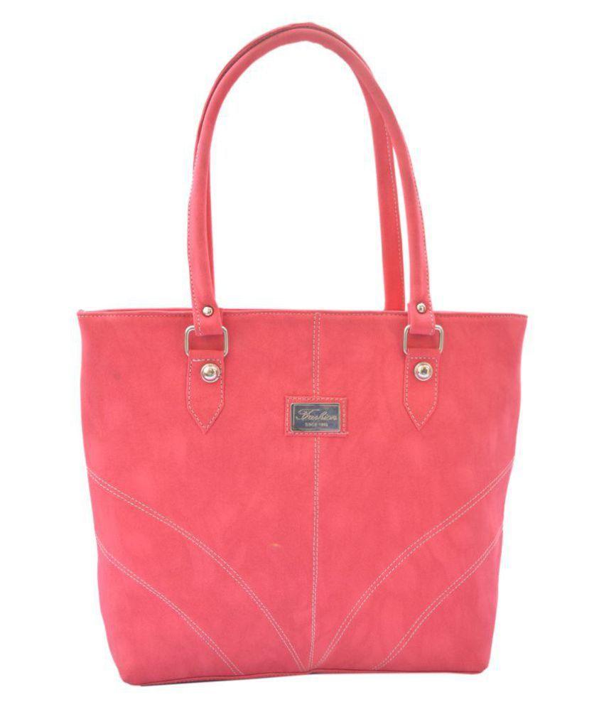 Kezitaska Pink P.U. Shoulder Bag