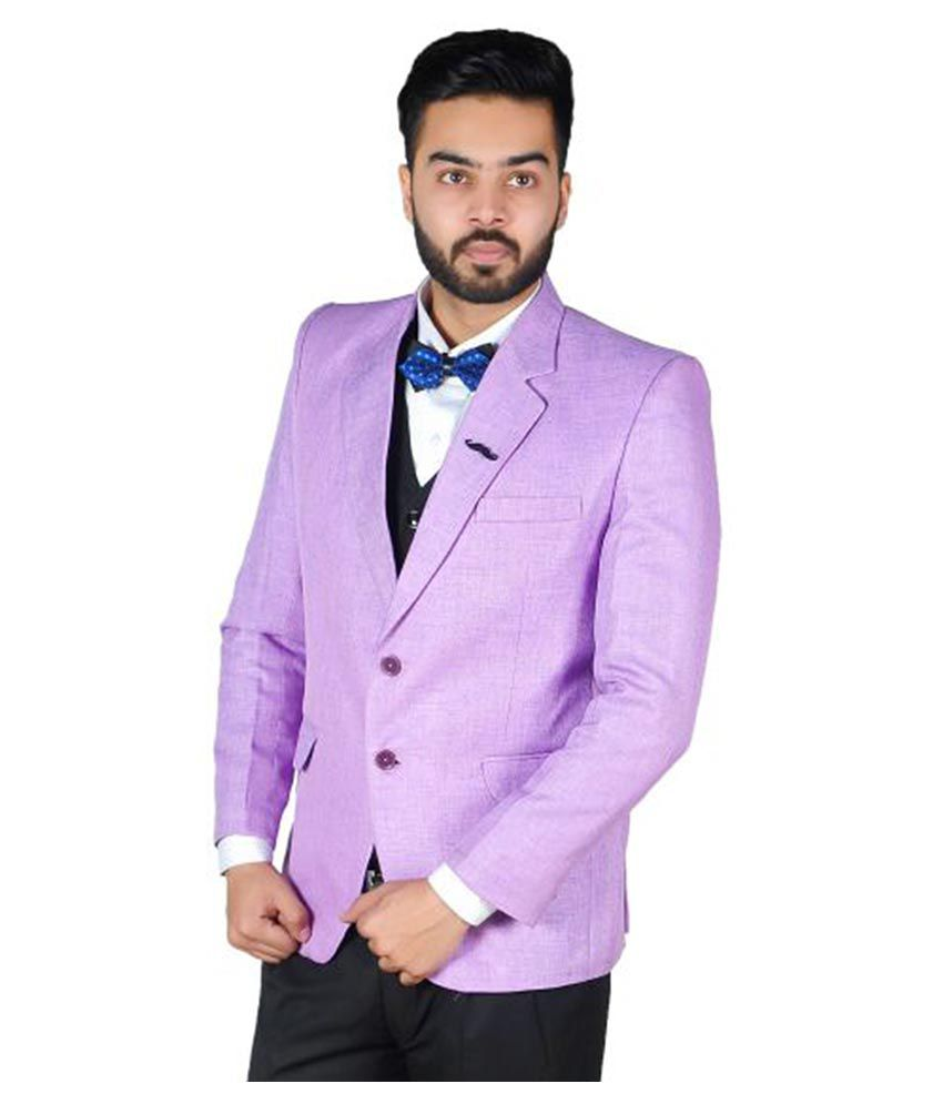 Hartmann Purple Solid Party 2 Piece Suits Pack of 2