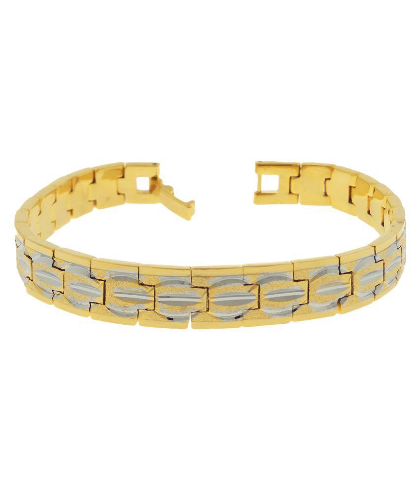 Saizen Gold Plated Graceful Bracelet Style for Men
