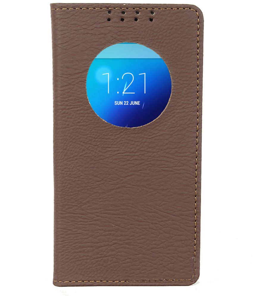 Gionee Elife S5.5 Flip Cover by Dsas - Brown